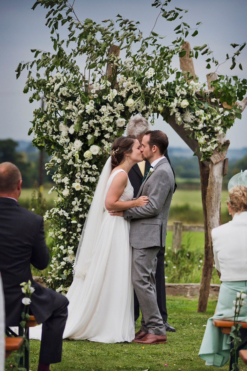 Beautiful bride Lucy wore a wedding dress by Halfpenny London