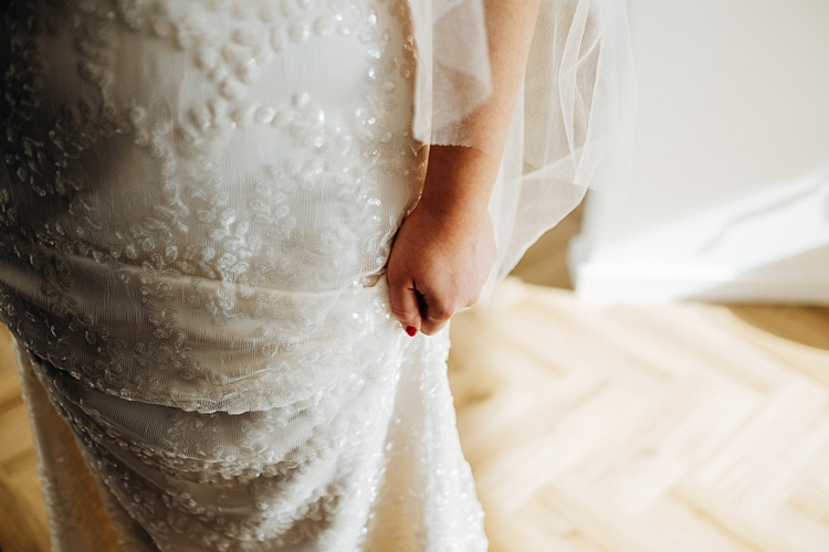 Beautiful bride Jasmyn wears a wedding dress by Halfpenny London