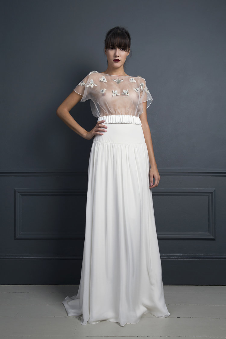 BUMBLE TOP & LAURA SKIRT | WEDDING DRESS BY HALFPENNY LONDON