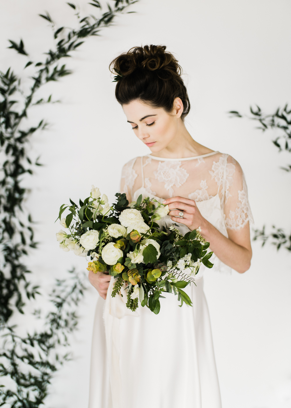 Wedding dress by Halfpenny London featured on Rock My Wedding blog | Image by John Barwood Photography