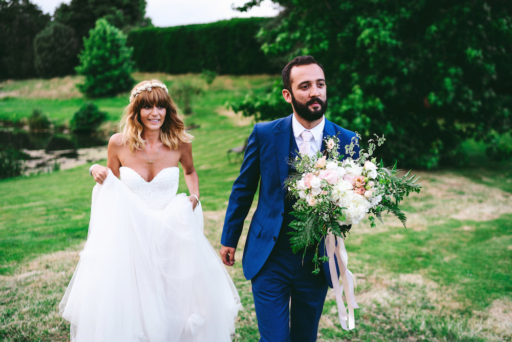 Beautiful bride Alexina wore a wedding dress by Halfpenny London