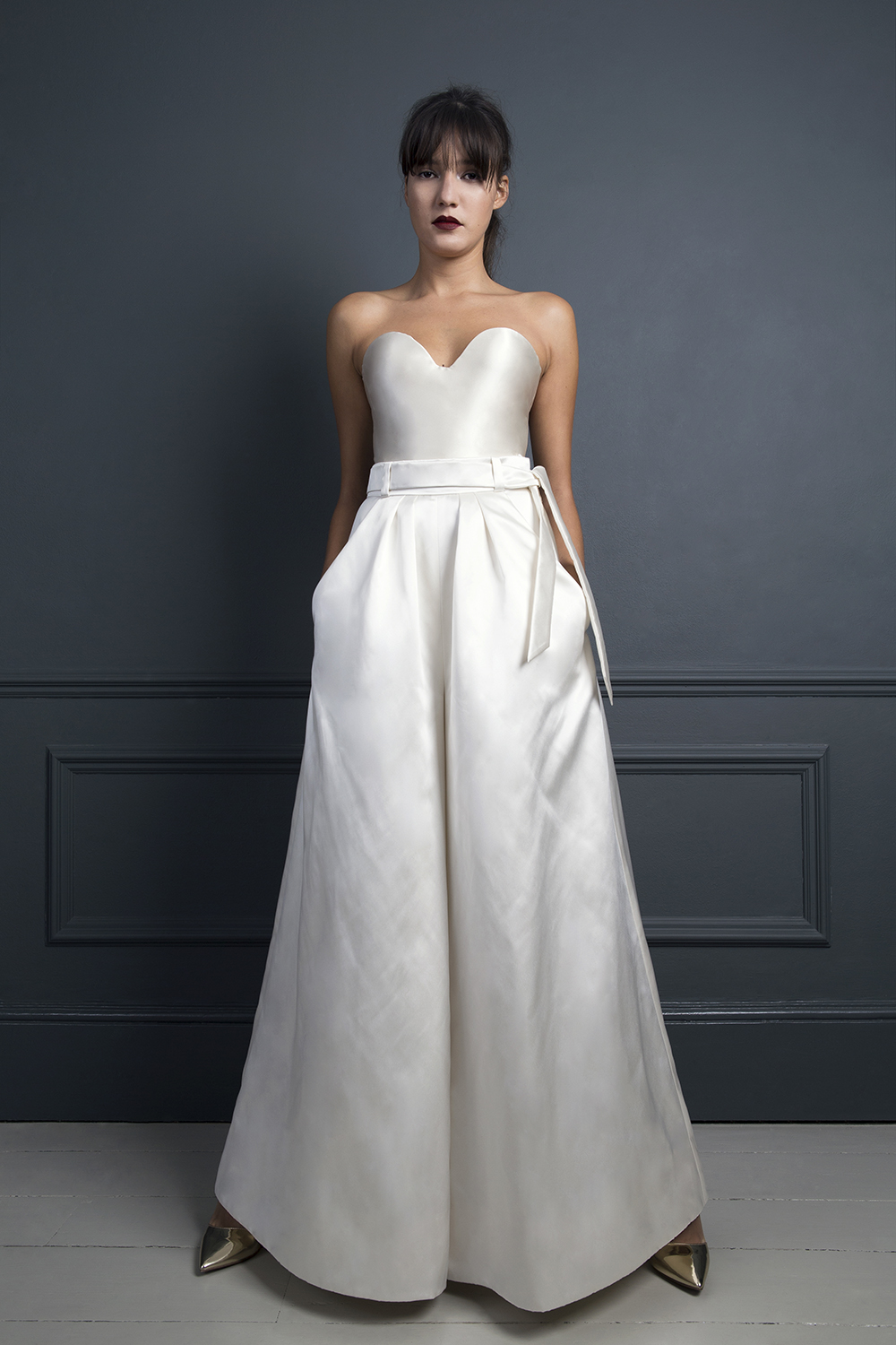 MARLENE TROUSERS & LORETTA SATIN CORSET | WEDDING SEPARATES BY HALFPENNY LONDON