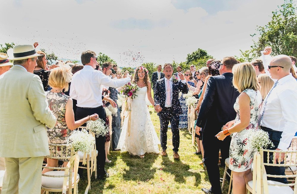 Gorgeous bride Sarah wore a wedding dress by Halfpenny London