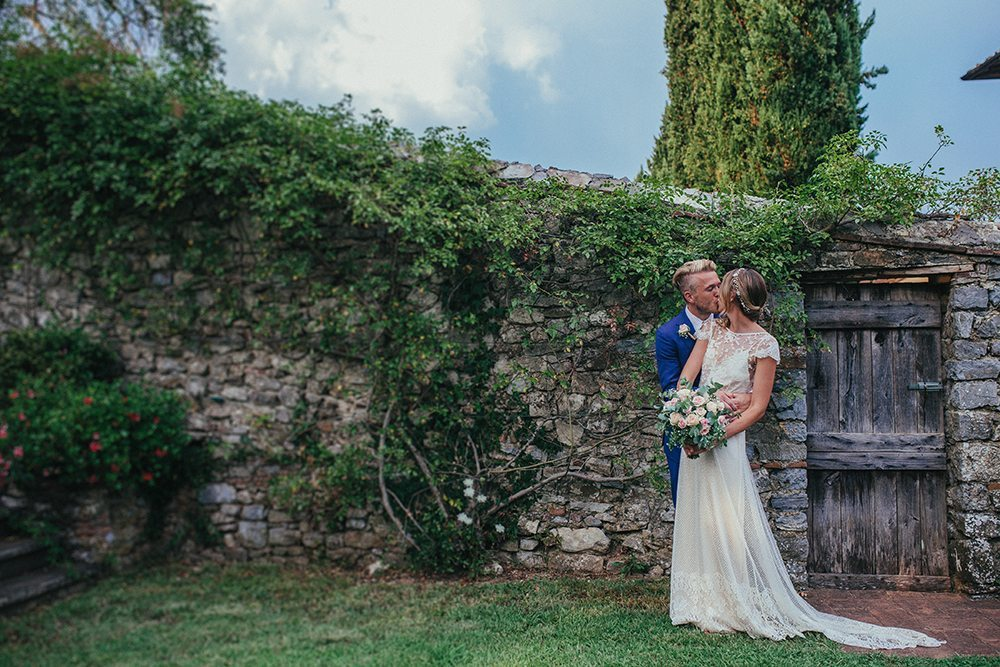 Beautiful bride Louise wore a wedding dress by Halfpenny London