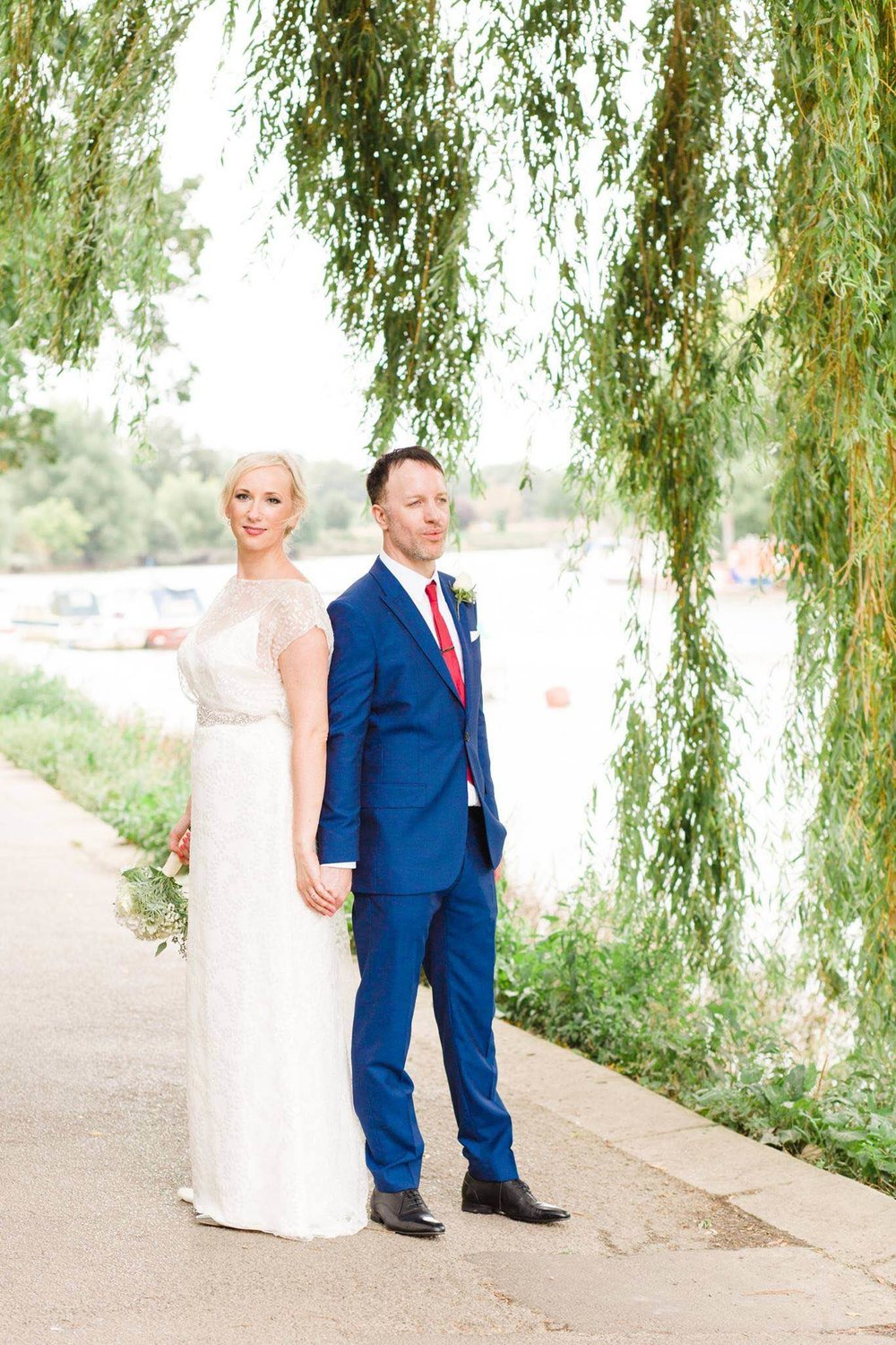 Gorgeous bride Natalie wears a wedding dress by Halfpenny London
