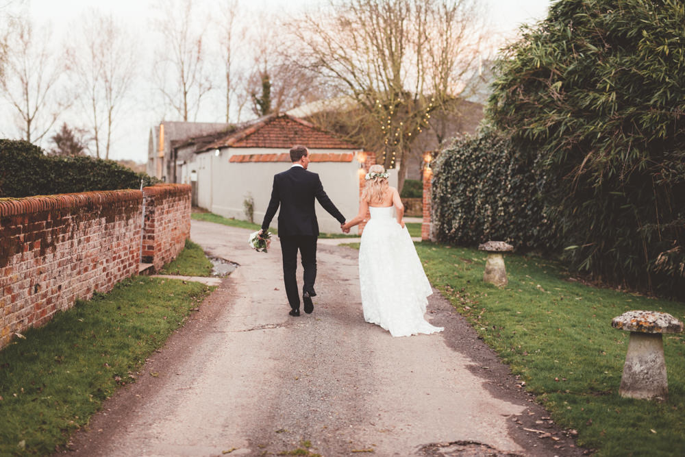 Beautiful bride Kate wore a wedding dress by Halfpenny London