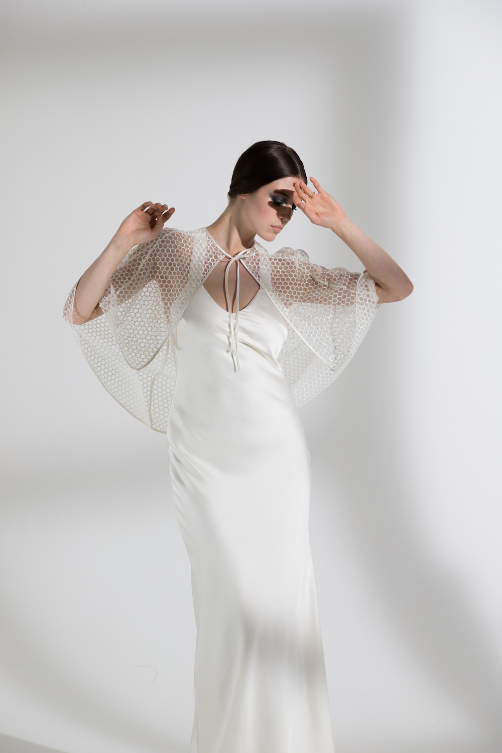 HONEYSUCKLE CAPE & JUNIPER DRESS | WEDDING DRESS BY HALFPENNY LONDON