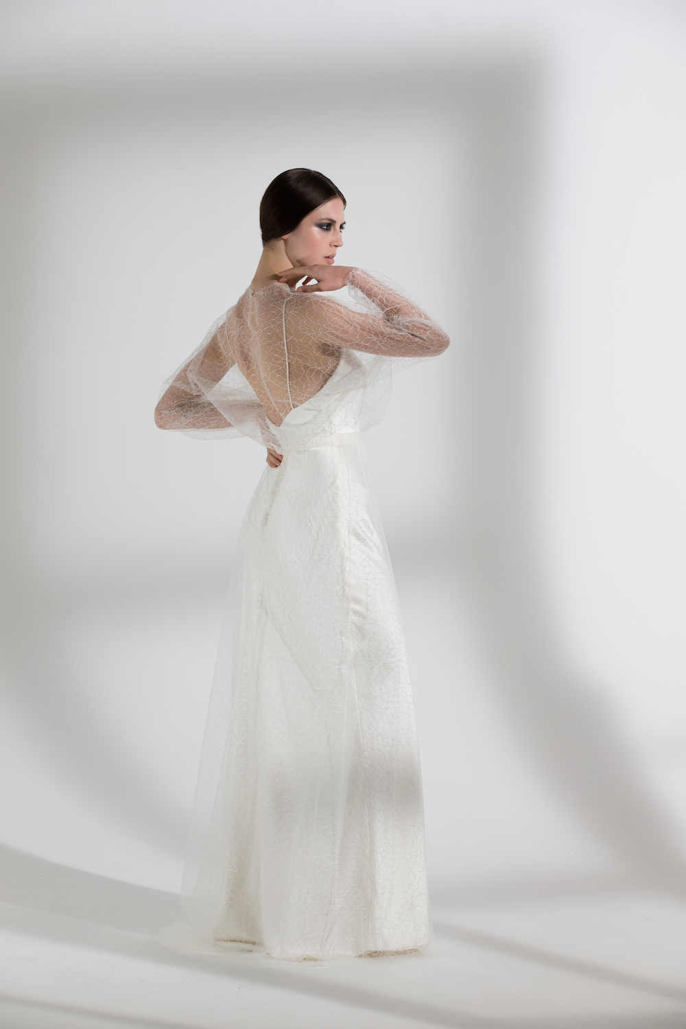 IRIS SLIP WITH GLADIOLI SKIRT & TOP | WEDDING DRESS BY HALFPENNY LONDON