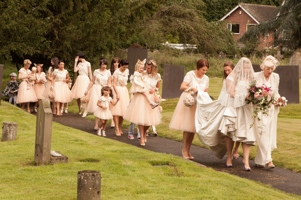 Kate Halfpenny's wedding day