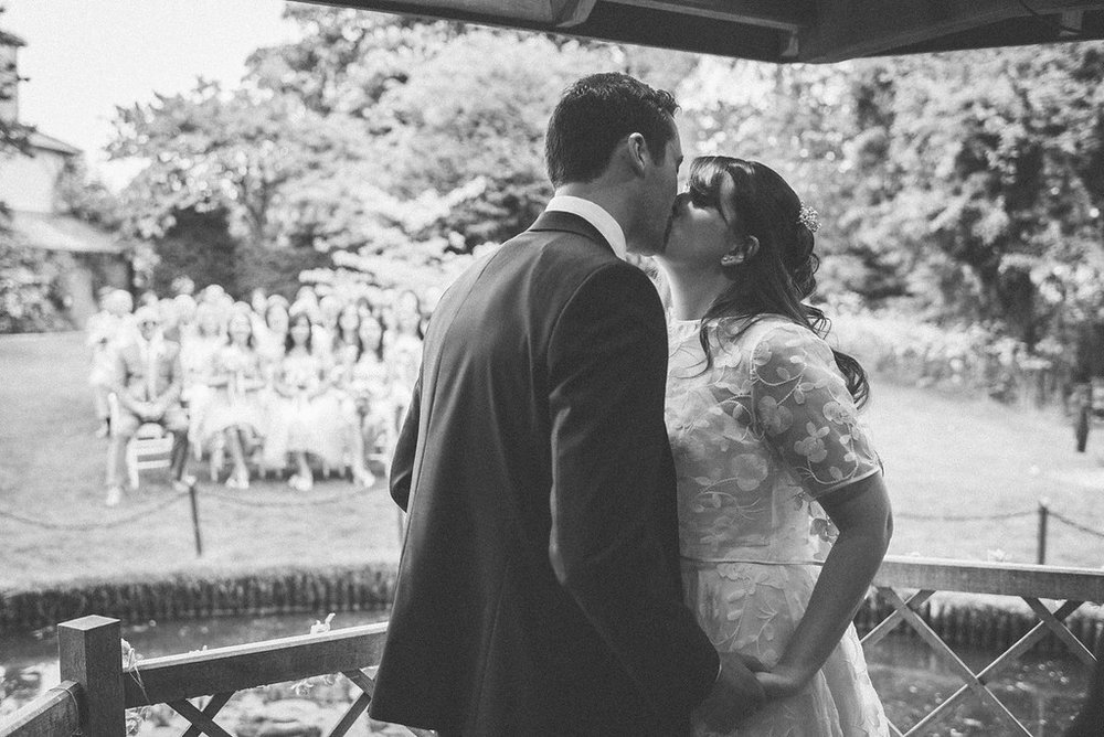 Beautiful bride Jo-Anne wore a wedding dress by Halfpenny London