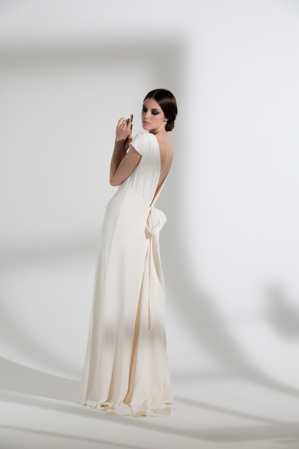 Fern low back dress with cap sleeves | Wedding dress by Halfpenny London