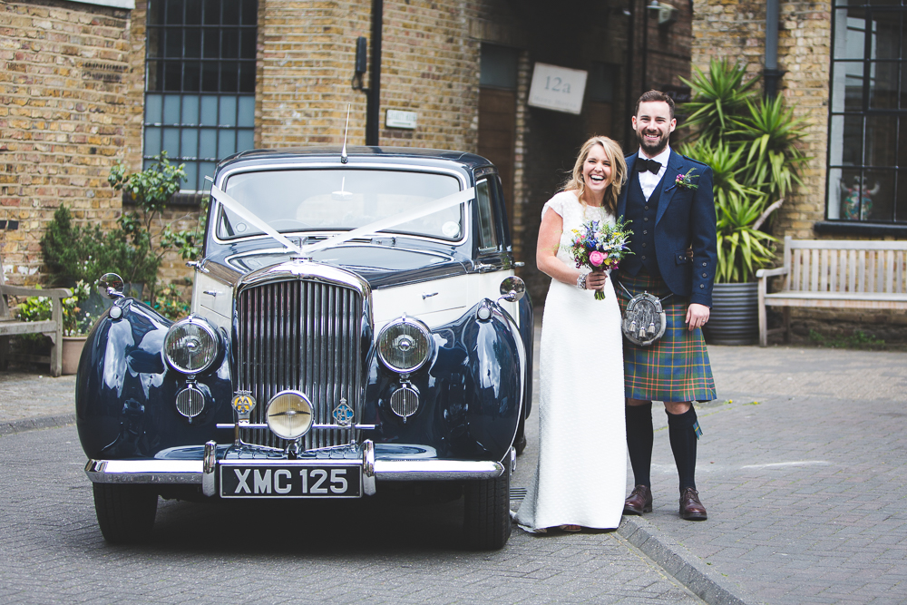 Beautiful bride Elly wore a wedding dress by Halfpenny London