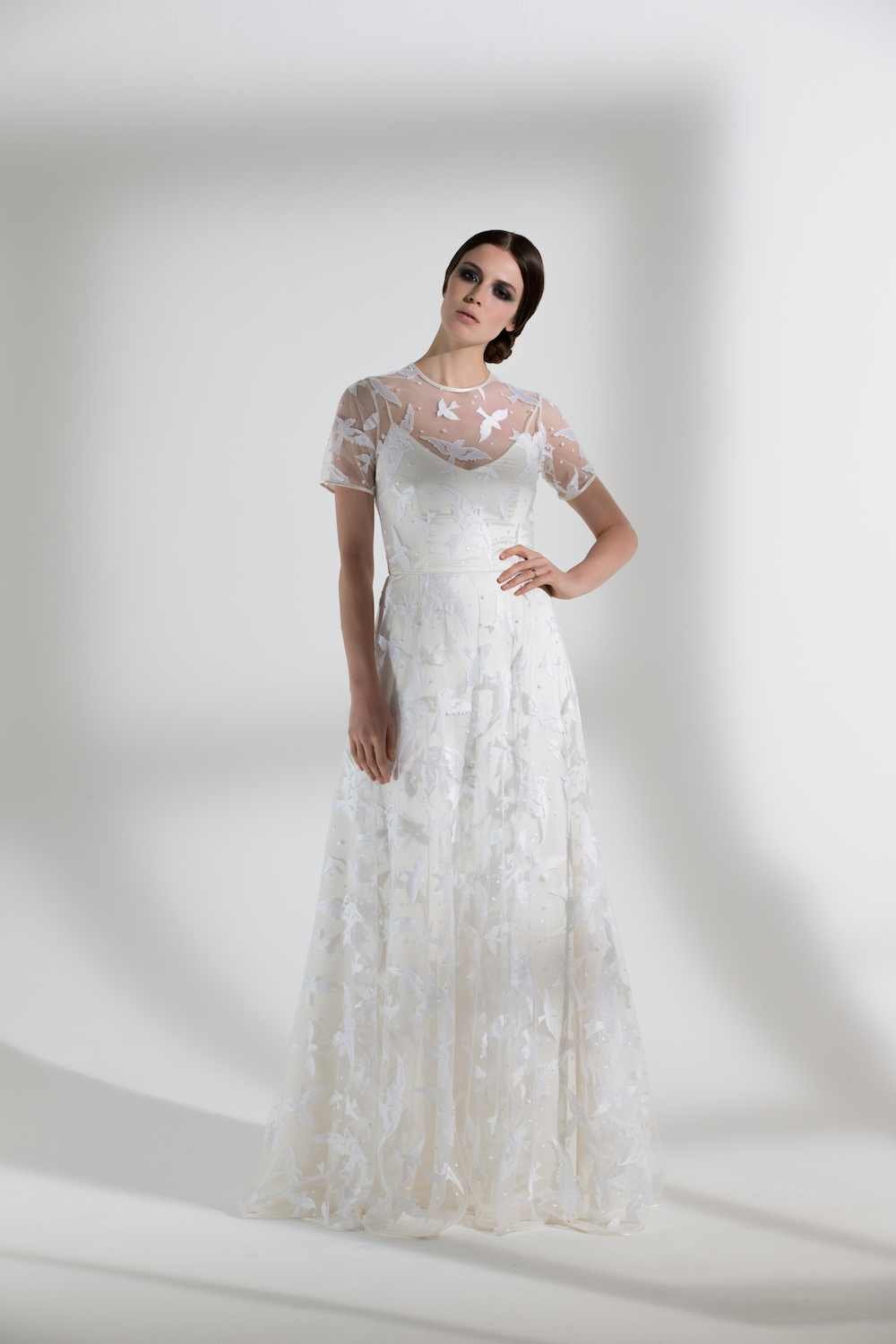 Bluebell | Embroidered wedding dress by Halfpenny London