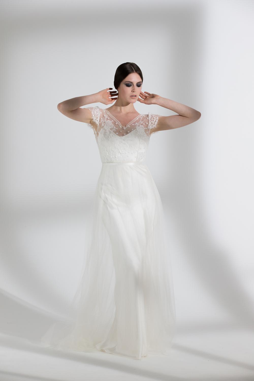 PEONY TULLE & IRIS SLIP | WEDDING DRESS BY HALFPENNY LONDON