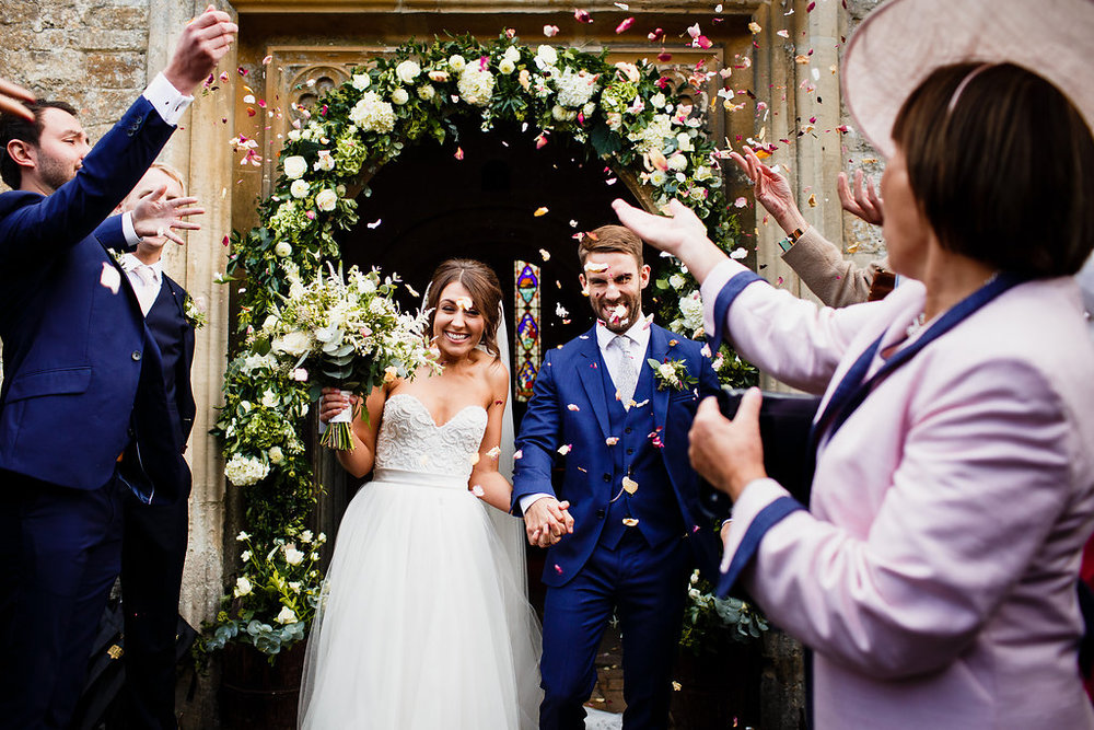 Beautiful bride Camilla wore a wedding dress by Halfpenny London