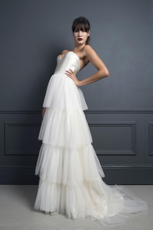 RITA SKIRT & LORETTA SATIN CORSET | WEDDING DRESS BY HALFPENNY LONDON