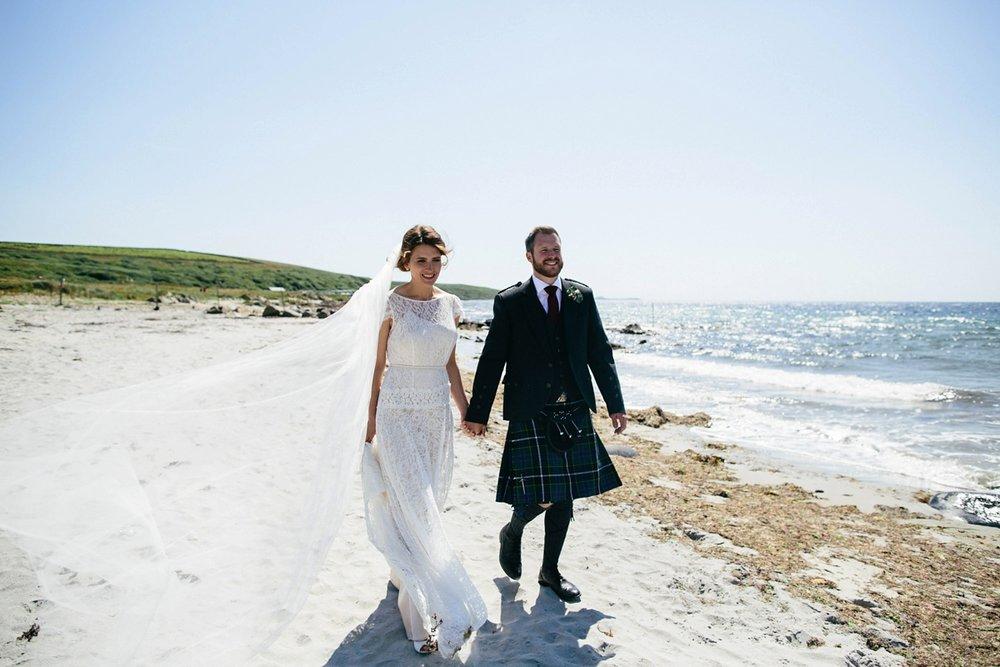 Beautiful bride Jennifer wore a wedding dress by Halfpenny London