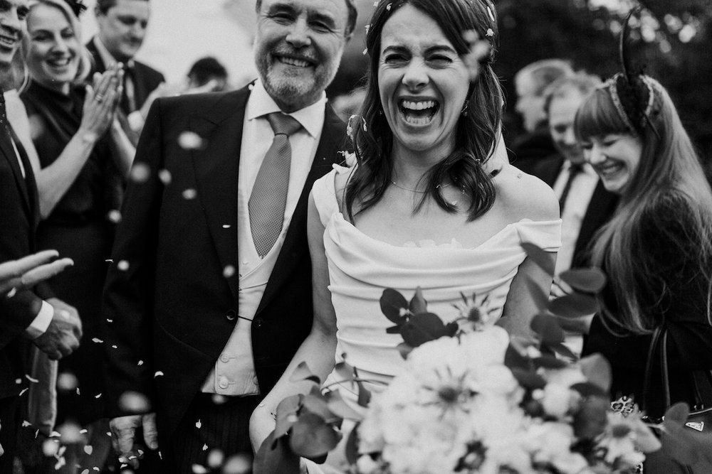 Beautiful bride Katie wore a wedding dress by Halfpenny London