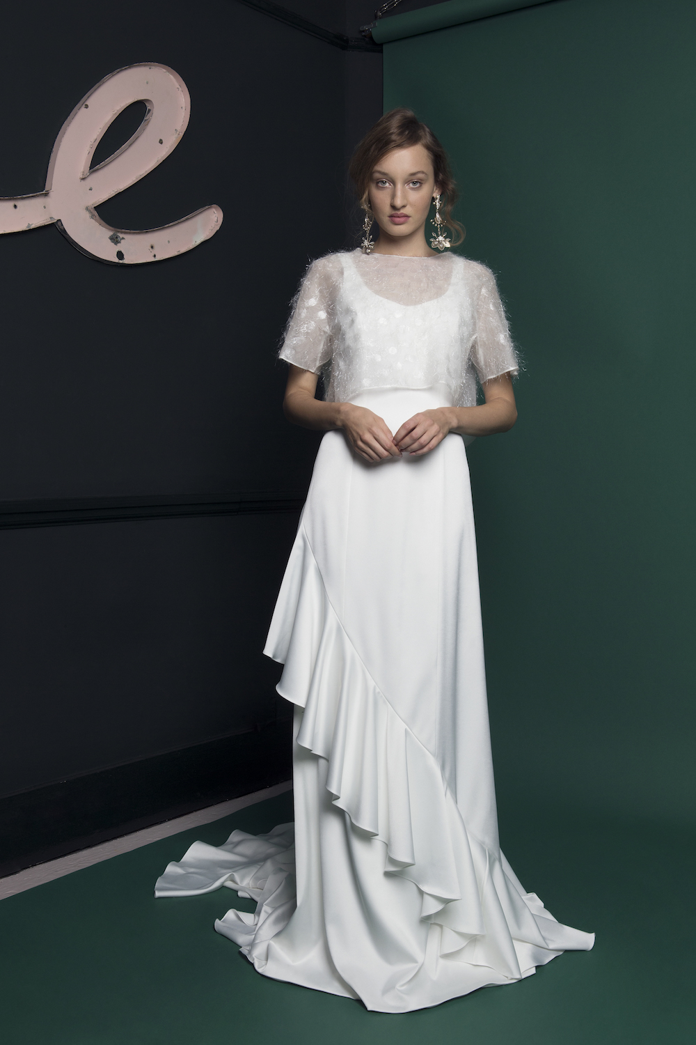 CLOUD TOP & WAVE DRESS | WEDDING DRESS BY HALFPENNY LONDON