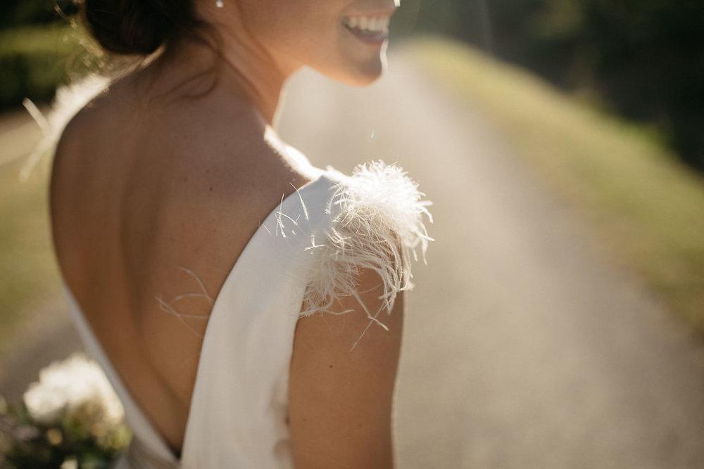 Beautiful bride Anna wore a wedding dress by Halfpenny London