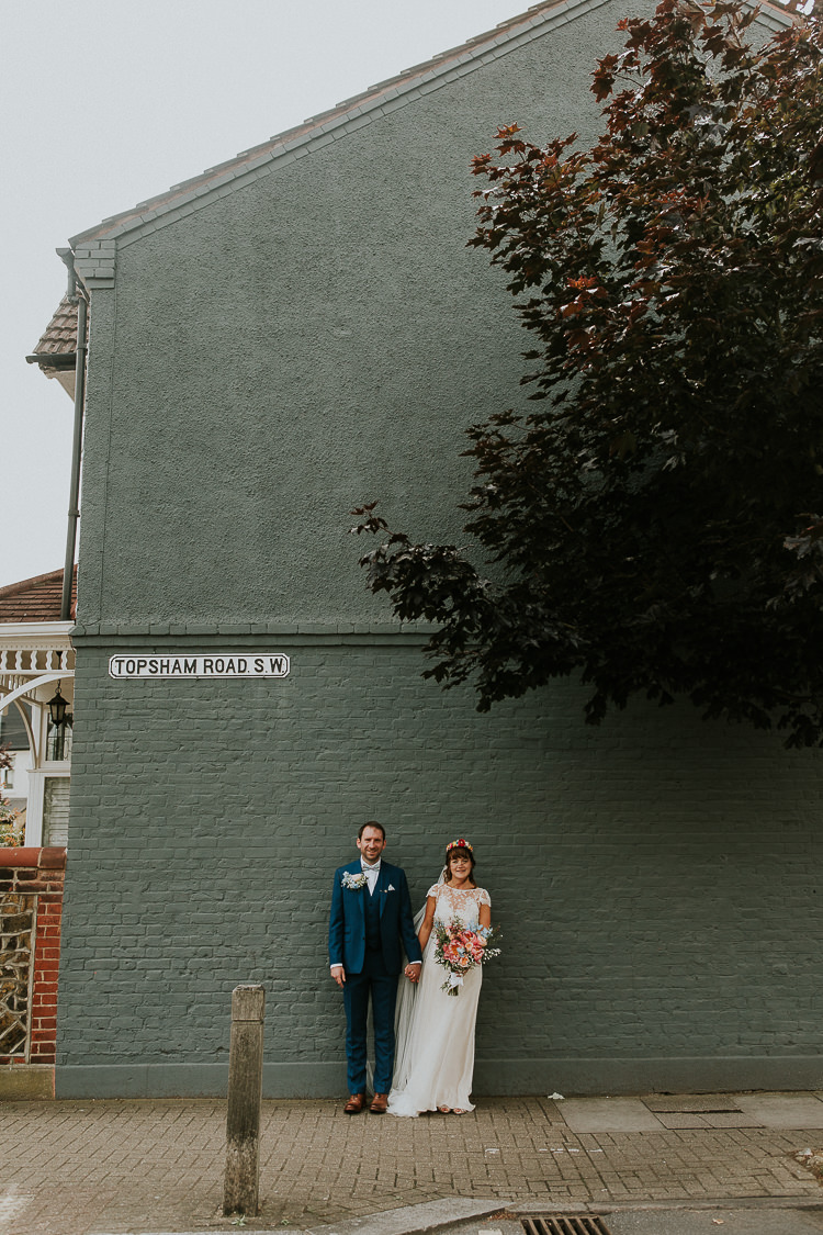 Beautiful bride Alice wore a wedding dress by Halfpenny London