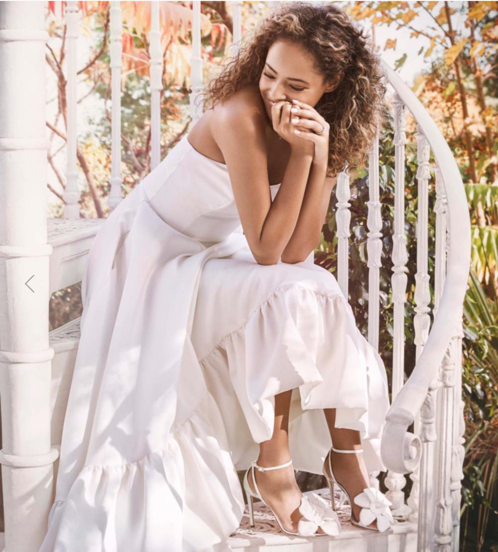 Halfpenny London wedding dress and the perfect Jimmy Choo wedding shoes