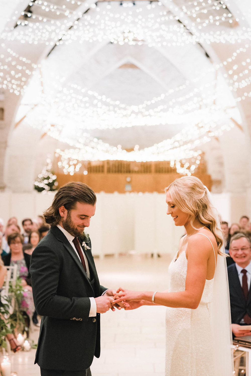 Beautiful bride Claire wore a sequin wedding dress by Halfpenny London