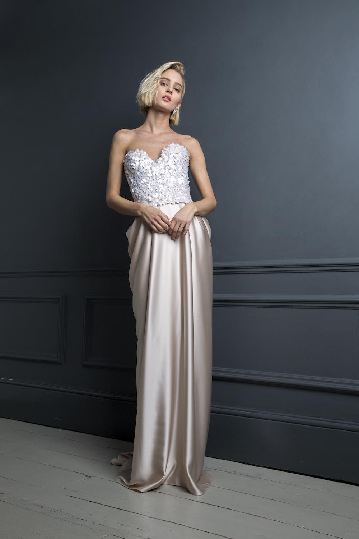 ALEXANDER CORSET & JAMES SKIRT | WEDDING DRESS BY HALFPENNY LONDON