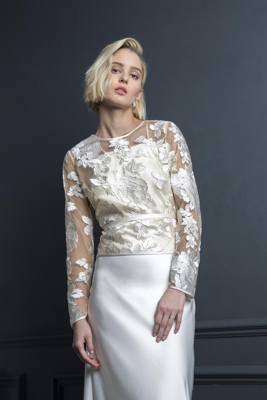 BASIL TOP ,  MAX SLIP & NARROW BELT | WEDDING DRESS BY HALFPENNY LONDON