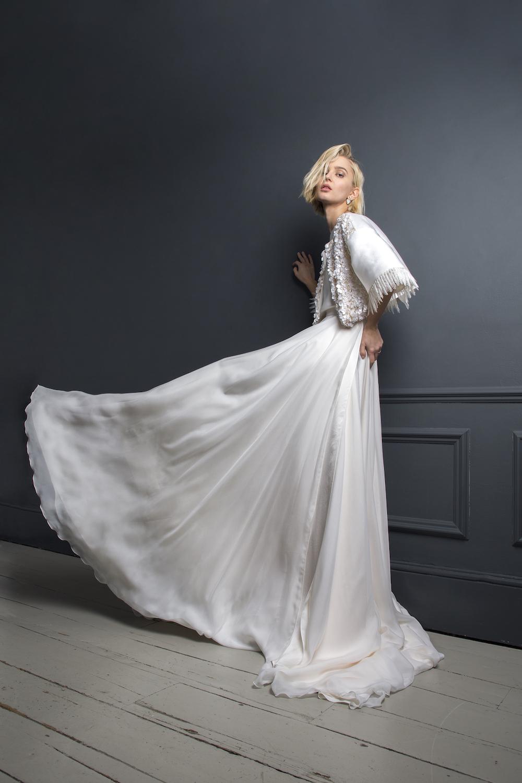 BRADLEY JACKET & PETER SKIRT | WEDDING DRESS BY HALFPENNY LONDON