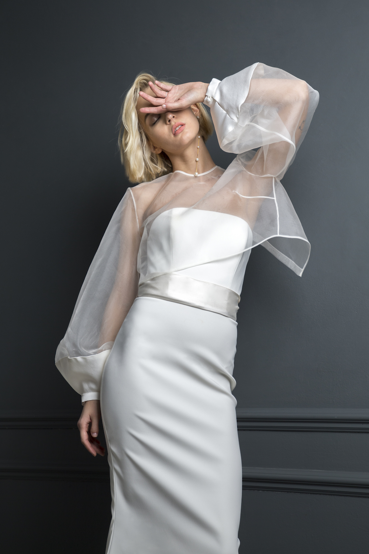 OLIVER DRESS, DUCHESS SASH & DANIEL TOP | WEDDING DRESS BY HALFPENNY LONDON