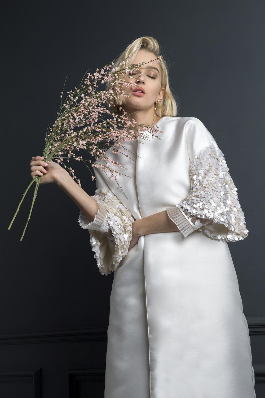 DUFFY COAT | WEDDING DRESS BY HALFPENNY LONDON