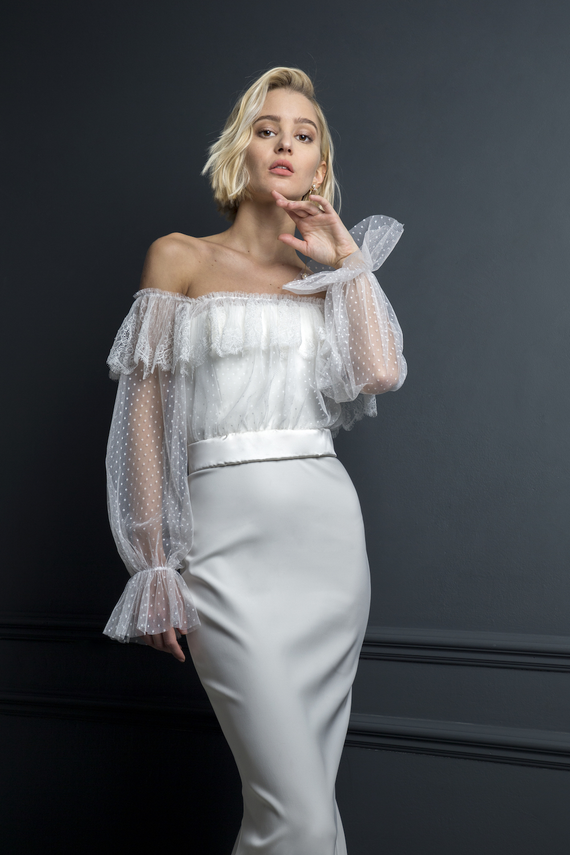 MALIN TOP & OLIVER DRESS | WEDDING DRESS BY HALFPENNY LONDON