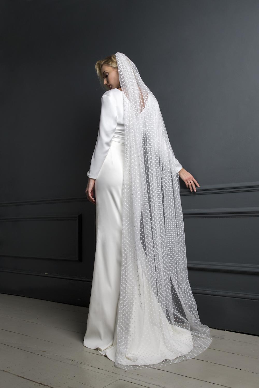 TOBI TOP, SPOT TULLE VEIL  & TOBI SKIRT | WEDDING DRESS BY HALFPENNY LONDON