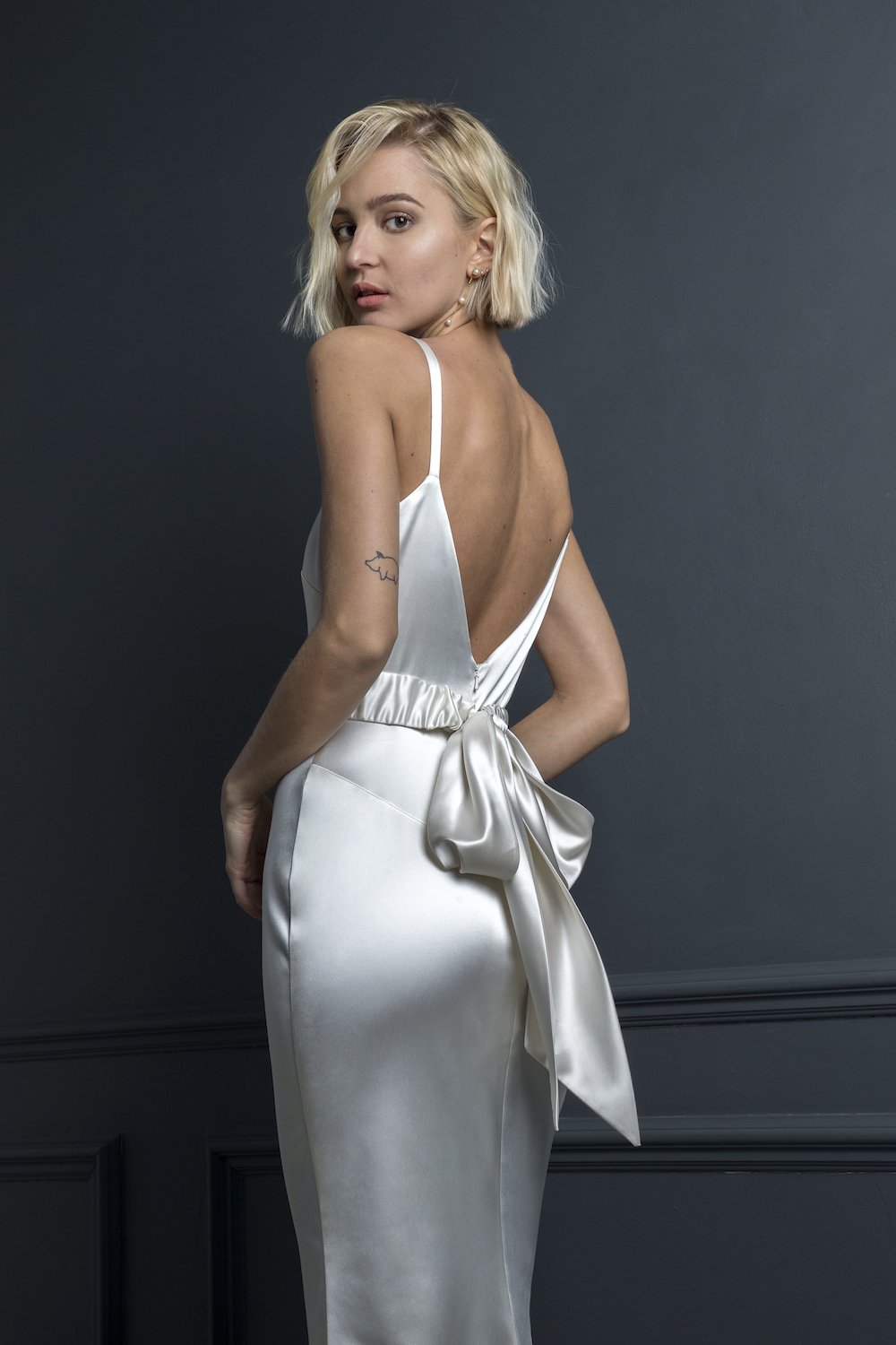 VICTOR SLIP & BUMBLE BELT | WEDDING DRESS BY HALFPENNY LONDON