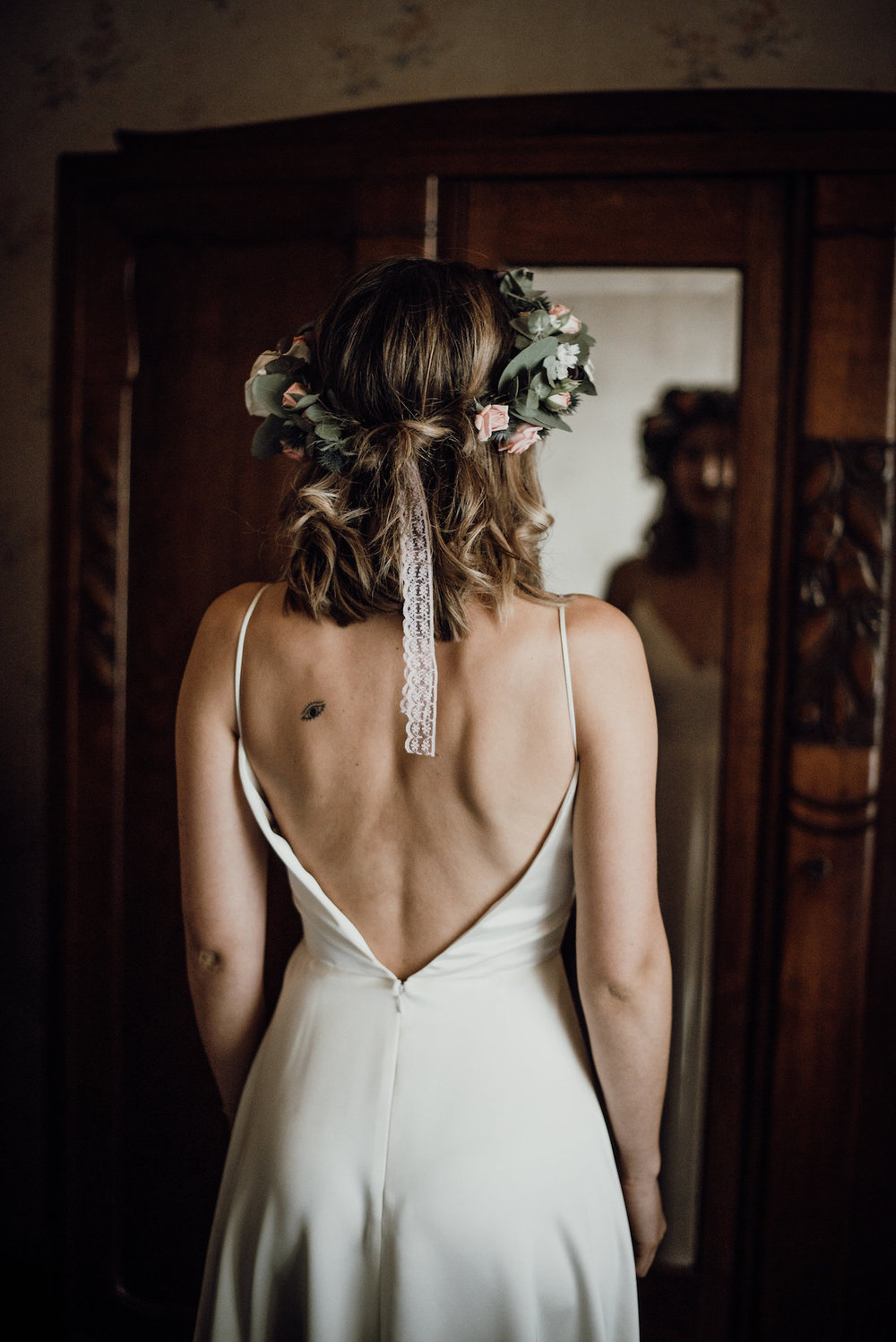 Beautiful bride Daniella wore a wedding dress by Halfpenny London