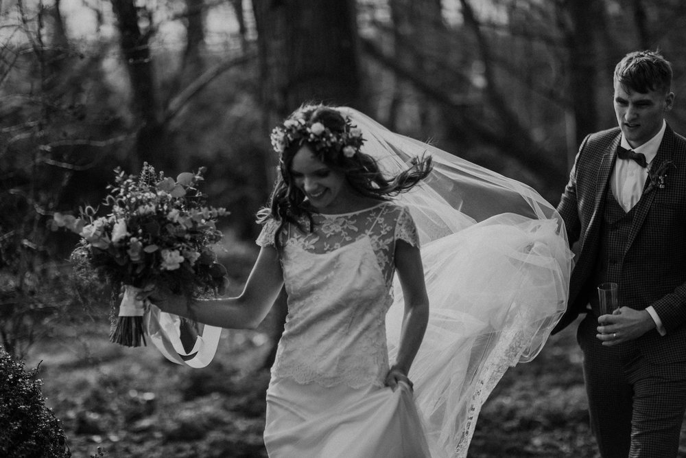 Beautiful bride Kristy wore a wedding dress by Halfpenny London