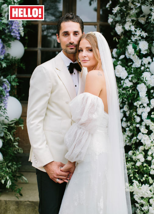 Millie Mackintosh wedding wearing a bespoke Halfpenny London