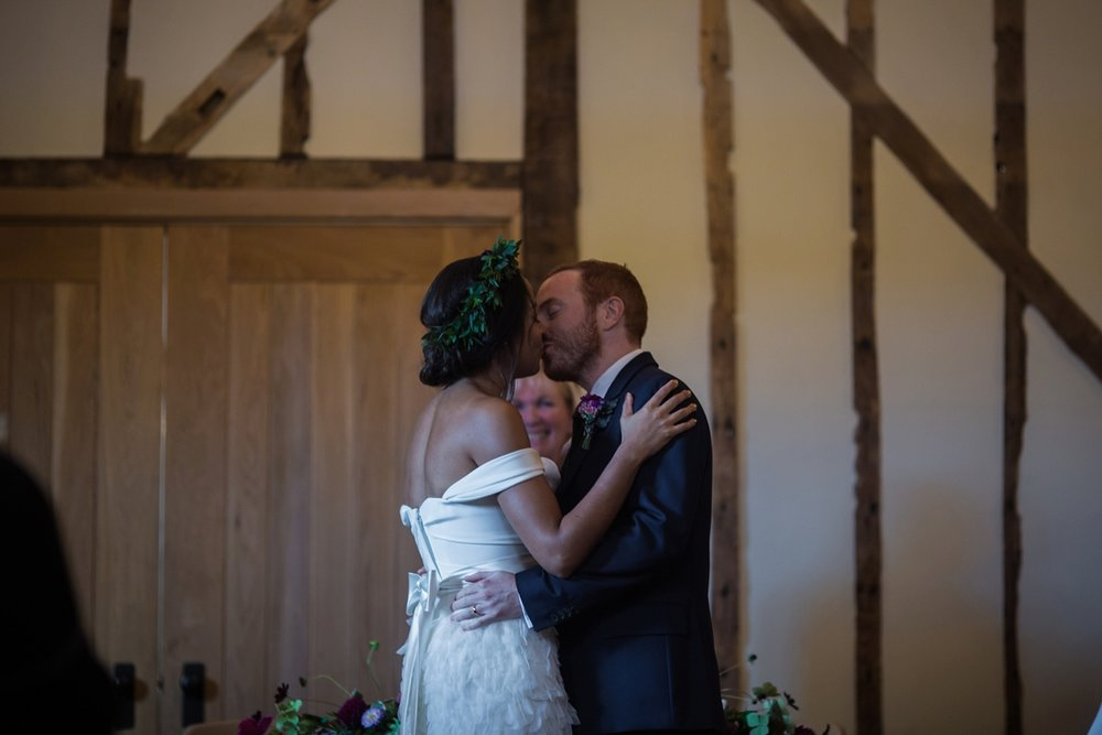 Beautiful bride Leah wore a wedding dress by Halfpenny London