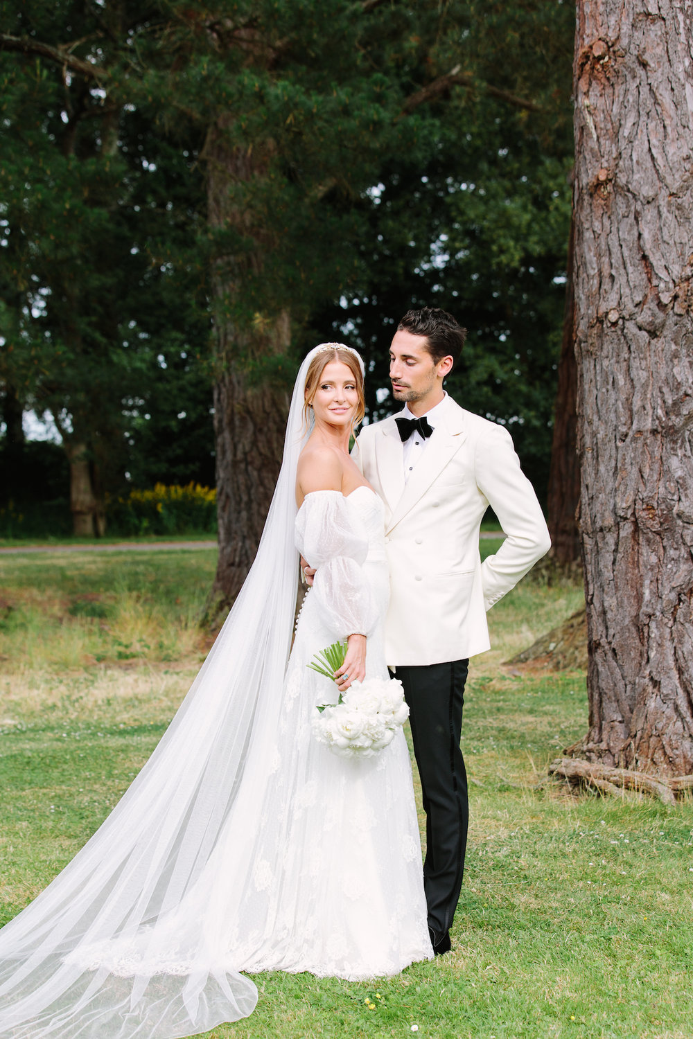 Millie Mackintosh wore a bespoke wedding dress by Halfpenny London