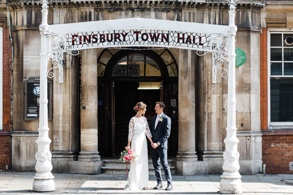 Beautiful bride Natasha wore a wedding dress by Halfpenny London