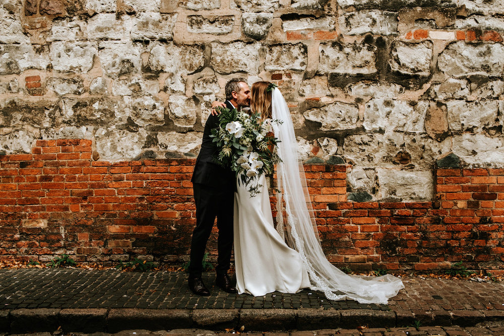 Beautiful bride Jessica wore a wedding dress by Halfpenny London