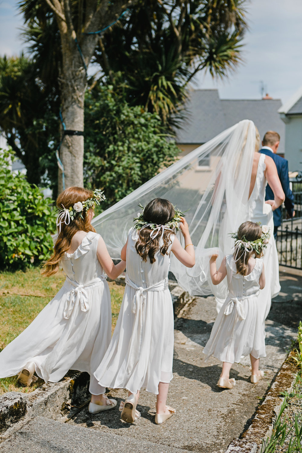 Beautiful bride Emily wore a wedding dress by Halfpenny London