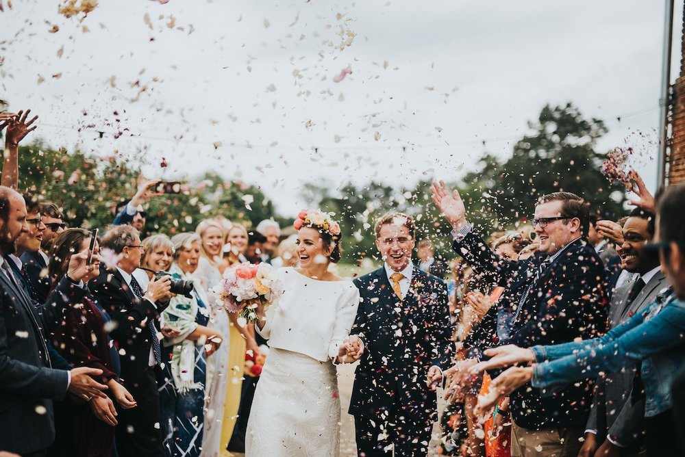 Beautiful bride Ashley wore a wedding dress by Halfpenny London