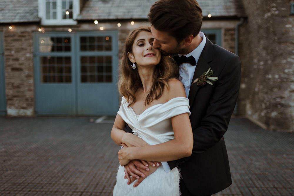 Beautiful bride Luciana wore a wedding dress by Halfpenny London