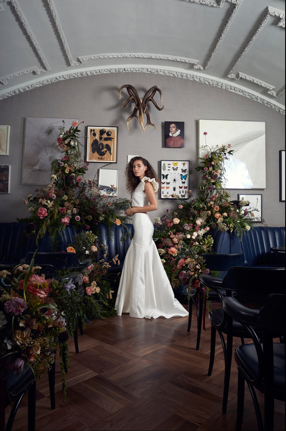 Halfpenny London wedding dresses at The Groucho Club | Image by Billie Scheepers