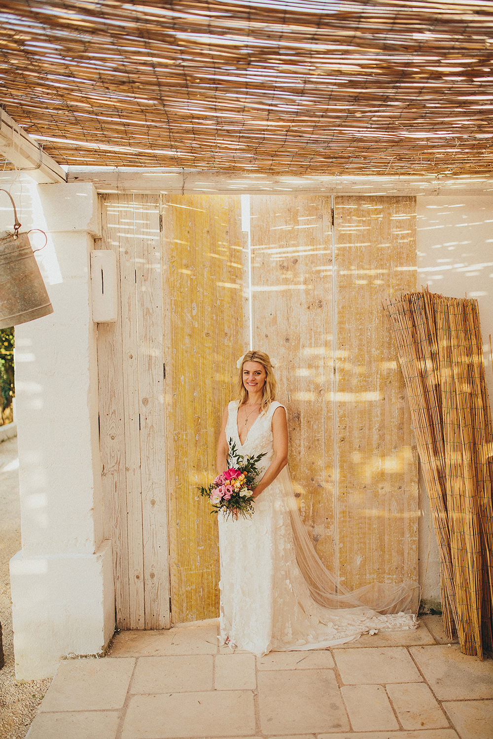 Beautiful bride Jackie wore a wedding dress by Halfpenny London