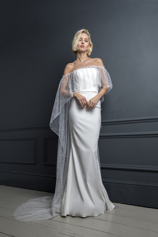 OLIVER DRESS & OSCAR CAPE | WEDDING DRESS BY HALFPENNY LONDON