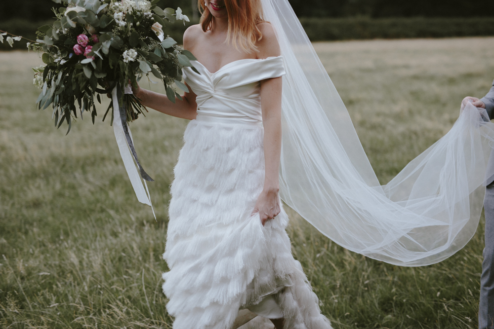 Beautiful bride Nic wore a wedding dress by Halfpenny London