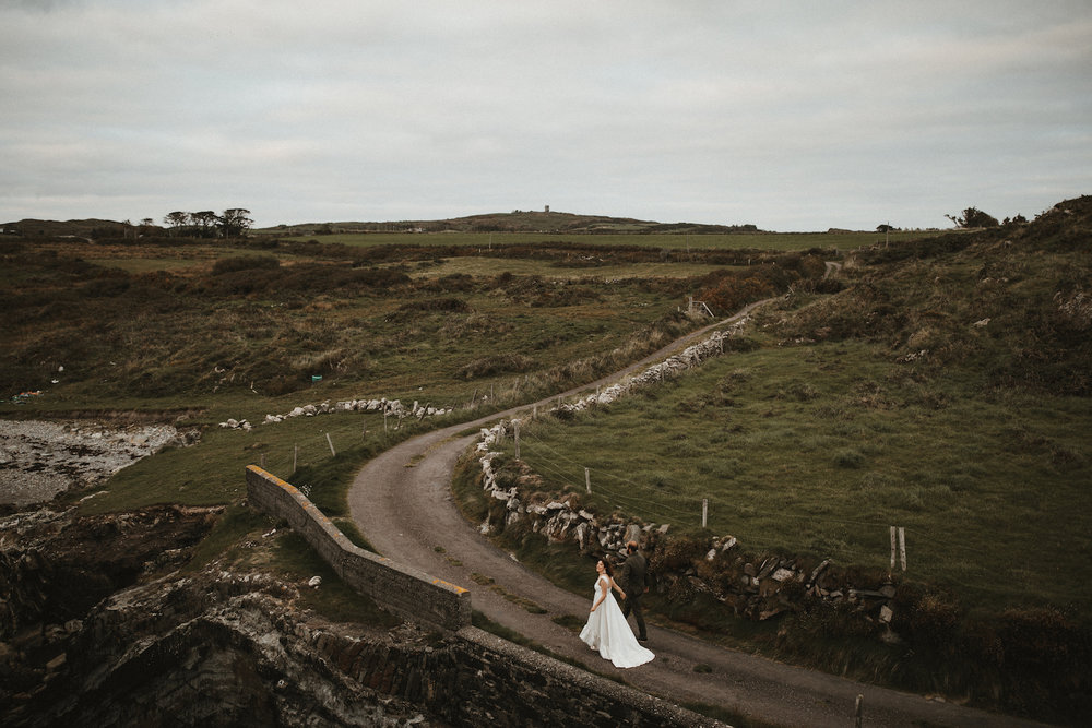 Beautiful bride Rosalind wore a wedding dress by Halfpenny London